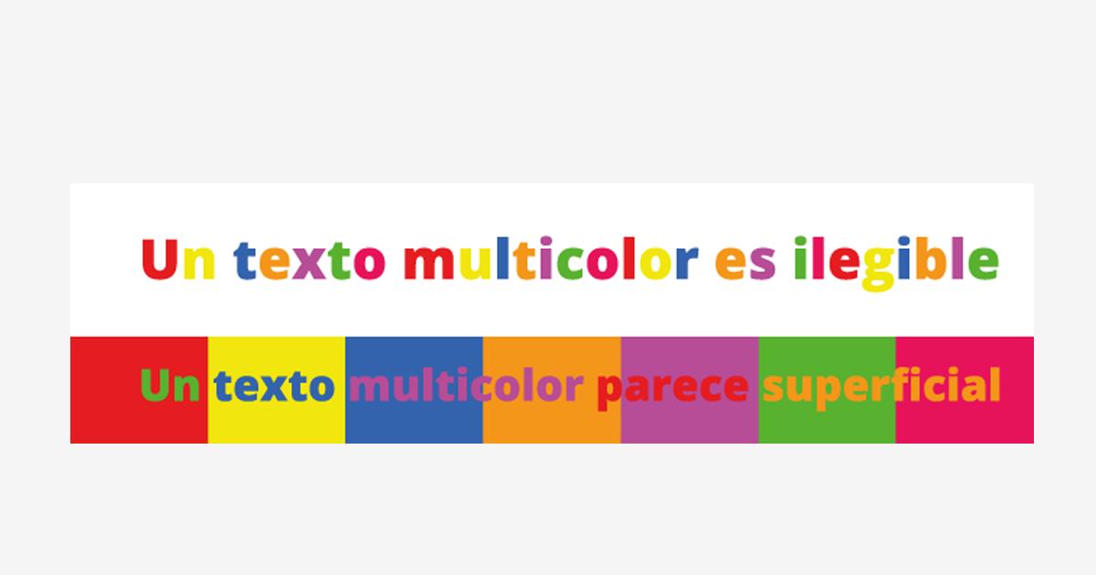 varios colores