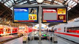señalización digital en terminales