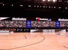 Hinchas virtuales en pantallas LED de la NBA